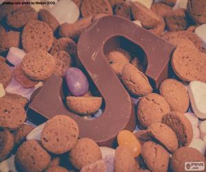Rompicapo di Lettera S di cioccolato