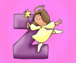 Rompicapo di Lettera Z con un angelo