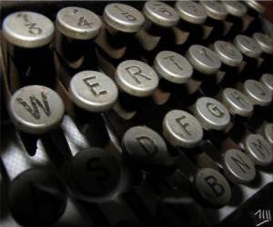 Rompicapo di Lettere di un vecchia macchina da scrivere
