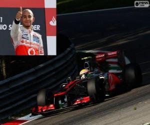 Rompicapo di Lewis Hamilton festeggia la vittoria del Grand Prix di Italia 2012