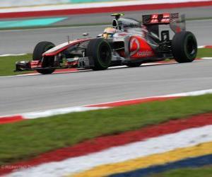 Rompicapo di Lewis Hamilton - McLaren - Gran Premio della Malesia (2012) (3 °)