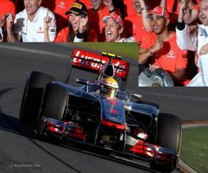 Rompicapo di Lewis Hamilton - McLaren - Melbourne, il Gran Premio d'Australia (2012) (3 °)