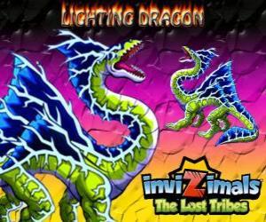 Rompicapo di Lightning Dragon. Invizimals Le Tribù Scomparse. Questo invizimal dragon domina il potere di fulmini e tuoni