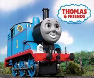 Rompicapo di lIl trenino Thomas è una locomotiva a vapore con il numero 1