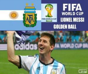 Rompicapo di Lionel Messi, pallone d'oro. Mondiali di calcio Brasile 2014