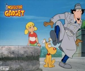 Rompicapo di L'ispettore Gadget, con la sua nipotina Penny ou Sophie e il suo cane Bravo ou Finot