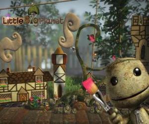 Rompicapo di LittleBigPlanet, videogioco dove i personaggi sono bambole chiamati Sackboys o Sackgirls