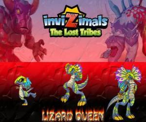 Rompicapo di Lizard Queen, ultima evoluzione. Invizimals Le Tribù Scomparse. La regina dei rettili è bella e saggiq