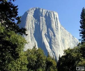 Rompicapo di Lo Half Dome, Yosemite, USA