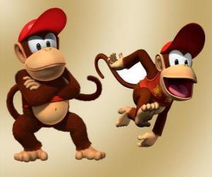 Rompicapo di Lo scimpanzé Diddy Kong, personaggio nel videogioco Donkey Kong