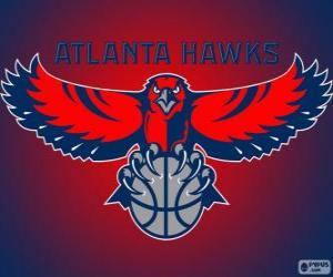 Rompicapo di Logo Atlanta Hawks, squadra NBA. Southeast Division, Eastern Conference