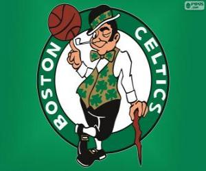Rompicapo di Logo Boston Celtics, squadra NBA. Atlantic Division, Eastern Conference