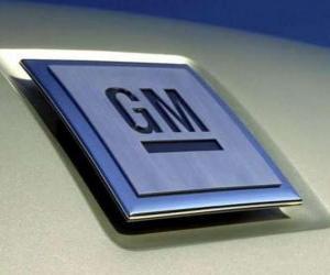 Rompicapo di Logo della GM o General Motors. Marchio automobilistico degli Stati Uniti
