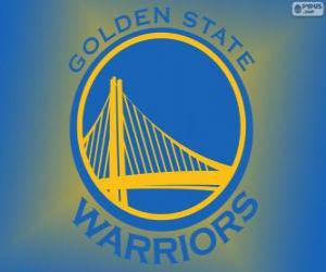 Rompicapo di Logo della Golden State Warriors, squadra NBA. Pacific Division, Western Conference