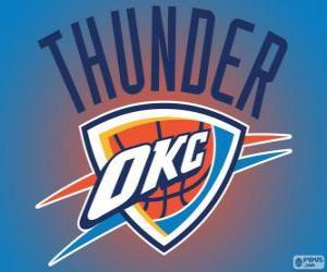 Rompicapo di Logo della Oklahoma City Thunder, squadra NBA. Northwest Division, Western Conference