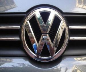Rompicapo di Logo della Volkswagen, marchio automobilistico tedesco