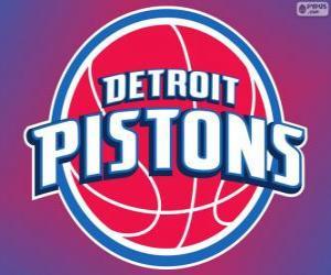 Rompicapo di Logo Detroit Pistons, squadra NBA. Central Division, Eastern Conference