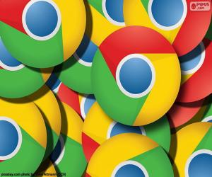 Rompicapo di Logo di Google Chrome