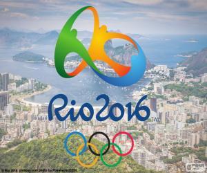 Rompicapo di Logo Giochi olimpici Rio 2016