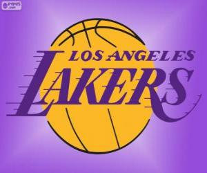 Rompicapo di Logo Los Angeles Lakers, squadra NBA, Pacific Division, Western Conference