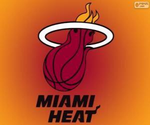 Rompicapo di Logo Miami Heat, squadra NBA. Southeast Division, Eastern Conference