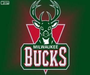 Rompicapo di Logo Milwaukee Bucks, squadra NBA. Central Division, Eastern Conference