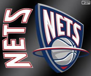 Rompicapo di Logo New Jersey Nets, squadra NBA. Atlantic Division, Eastern Conference