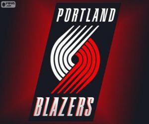 Rompicapo di Logo Portland Trail Blazers, squadra NBA. Northwest Division, Western Conference