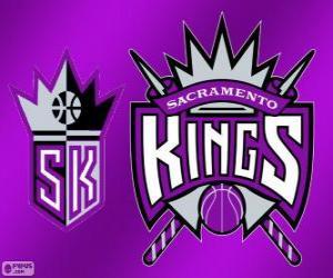 Rompicapo di Logo Sacramento Kings, squadra NBA. Pacific Division, Western Conference