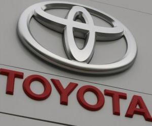 Rompicapo di Logo Toyota. Casa automobilistica giapponese
