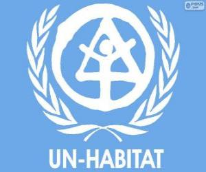 Rompicapo di Logo UN-HABITAT. Programma delle Nazioni Unite per gli Insediamenti Umani