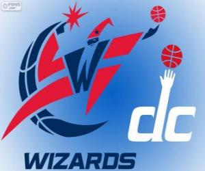 Rompicapo di Logo Washington Wizards, squadra NBA. Southeast Division, Eastern Conference