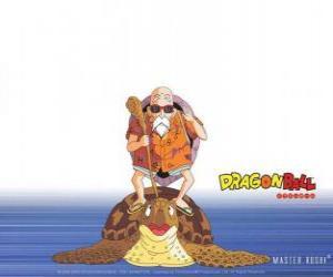 Rompicapo di Maestro Muten, Eremita della Tartaruga  o Kame Sennin, il vecchio maestro di arti marziali che addestra Son Goku e Crilin