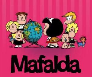 Rompicapo di Mafalda e gli amici