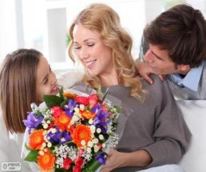 Rompicapo di Mamma riceve un mazzo di fiori