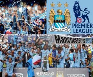 Rompicapo di Manchester City, campione del Premier League 2011-2012, campionato di calcio dall'Inghilterra