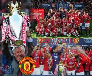 Rompicapo di Manchester United, campione del campionato di calcio inglese. Premier League 2010-2011