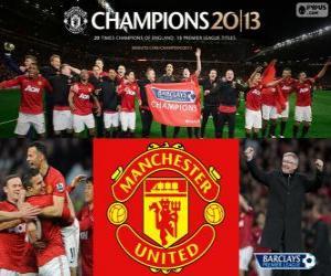 Rompicapo di Manchester United, campione del Premier League 2012-2013, campionato di calcio dall'Inghilterra