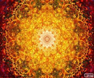 Rompicapo di Mandala di fiore della vita