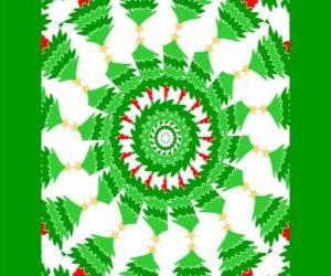 Rompicapo di Mandala di Natale con decorazioni