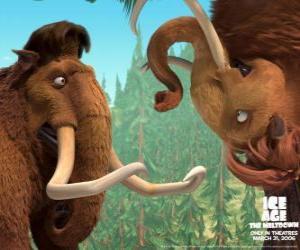 Rompicapo di Manny ed Ellie, due mammut amanti