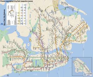 Rompicapo di Mappa della metropolitana di New York