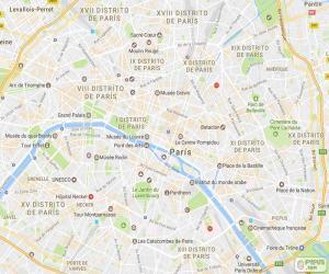 Rompicapo di Mappa di Parigi