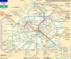 Rompicapo di Mappa metropolitana di Parigi