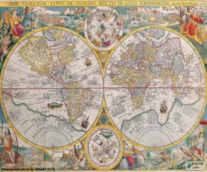 Rompicapo di Mappa storica del mondo