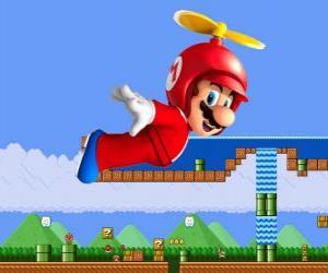Rompicapo di Mario battenti con lo scafo con elica