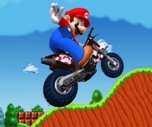 Rompicapo di Mario Bros su una motocicletta