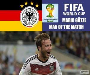 Rompicapo di Mario Götze, miglior giocatore della finale. Mondiali di calcio Brasile 2014