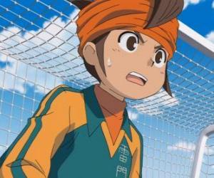 Rompicapo di Mark Evans o Endo Mamoru, portiere della squadra di calcio della Raimon Junior High e protagonista principale della serie Inazuma Eleven