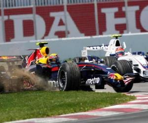 Rompicapo di Mark Webber pilota il F1